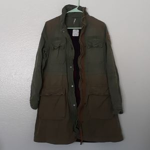 Free People Military Colorblock Jacket Size Small
